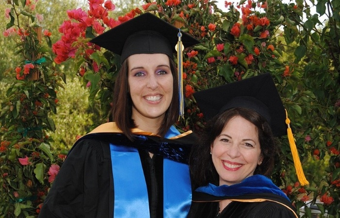 2011: Me (left) and Nancy Collins (right) at the UCSB PhD graduation ceremony.