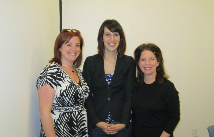 2011: Me (middle), Molly Metz (left), and Nancy Collins (right) after my dissertation defense.