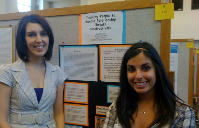 2009:Me (left) and an undergraduate honors student (right) at a university wide conference.