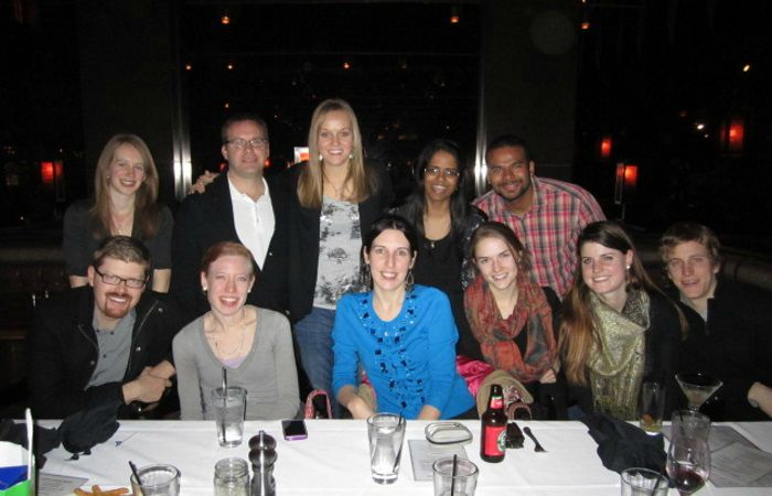 2013: Dr. Janice Kiecolt-Glaser's lab at someone's going away party.
