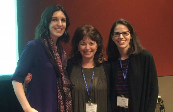 2017: Me (left), Nancy Collins (middle), and Heidi Kane (right) at SPSP